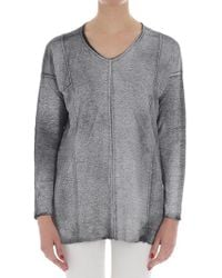 Avant Toi - Black Sweater With White Coating - Lyst