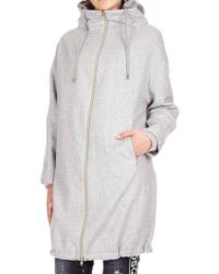 Herno - Gray Melange Cachemire Coat - Lyst