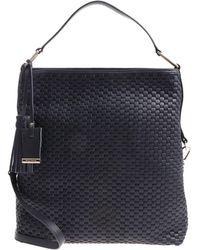 Bruno Parise Italia - Blue Woven Leather Matilde Bag - Lyst