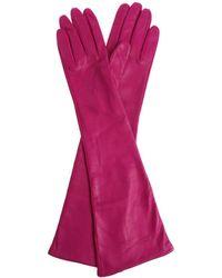 N°21 - Purple Leather Long Gloves - Lyst