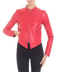Patrizia Pepe - Red Eco-leather Jacket - Lyst