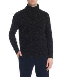 Paolo Pecora - Speckle Black Turtleneck Sweater - Lyst