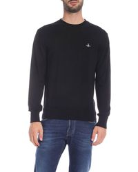 Vivienne Westwood - Black Pullover With Logo Embroidery - Lyst