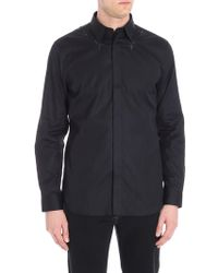 Givenchy - Black Shirt With Star Embroidery - Lyst