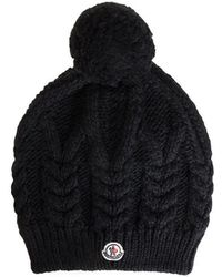 3e7a56d738f99 Moncler Cashmere Ribbed Skull Cap in White - Lyst