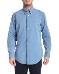 Brooks Brothers - Blue Denim Button-down Shirt - Lyst