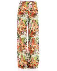 Piccione.piccione - Printed Trousers - Lyst