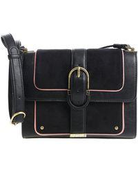 Elisabetta Franchi - Black Shoulder Bag With Golden Buckle - Lyst