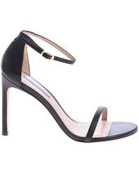 128f2587784 Lyst - Stuart Weitzman Nudistsong Printed High Heel Sandals