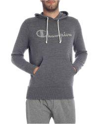 Paolo Pecora - Grey Wool Sweatshirt With Logo Inlay - Lyst