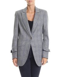 Shirtaporter - Gray Check Patterned Jacket - Lyst