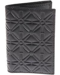 Comme des Garçons - Black Embossed Leather Card Holder - Lyst