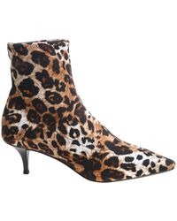 7d1f8759e7a9 Giuseppe Zanotti - Animal Printed Pointy Ankle Boots - Lyst