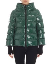 Herno - Green Cowl Neck Down Jacket - Lyst