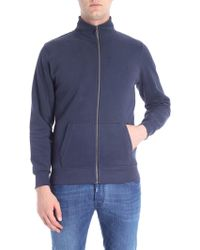 Colmar - Blue Sweatshirt With Logo Applied - Lyst