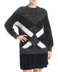 Alberta Ferretti - Dark Grey Mohair Pullover - Lyst