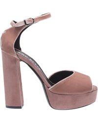 Marc Ellis - Ankle-strap Pink Suede Sandals - Lyst