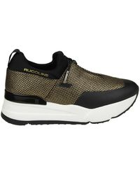 "Essentiel - Black And Golden ""rucoline"" Sneakers - Lyst"