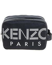 KENZO Black Beautycase With White Logo