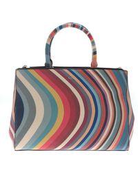 Paul Smith - Borsa a mano Swirl Tote multicolore - Lyst