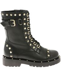 Twin Set - Black Ankle Boots With Studs - Lyst