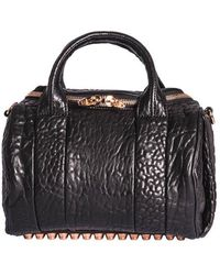 Alexander Wang - Rockie Handbag In Black Leather - Lyst