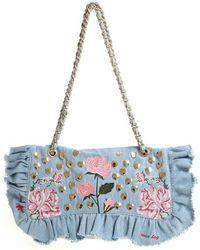 Mia Bag - Studded Denim Shoulder Bag - Lyst