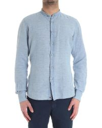 Glanshirt - Light-blue Jared Shirt - Lyst