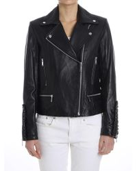 Michael Kors - Leather Jacket - Lyst
