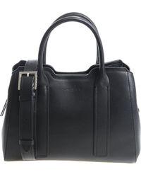 Lancaster Paris - Black Leather Handbag With Buckle - Lyst