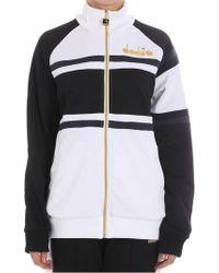 Diadora - Striped 80s Sweatshirt - Lyst