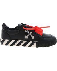 Off-White c/o Virgil Abloh - Low Vulcanized Sneakers In Black - Lyst