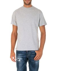 Golden Goose Deluxe Brand - Grey T-shirt With Logo Print - Lyst