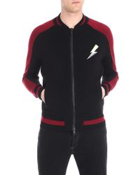 Givenchy - Black And Red Cardigan With Lightning Insert - Lyst