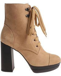 Hogan - H391 Beige Ankle Boots - Lyst