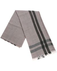 Fabiana Filippi - Taupe White And Green Scarf With Lamé Insert - Lyst