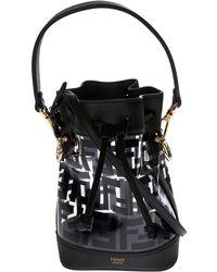 d70b2965a2e2 Lyst - Fendi Mon Tresor Mini Bucket Bag in Black