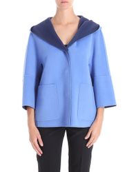 Weekend by Maxmara - Light-blue Banfy Reversible Coat - Lyst