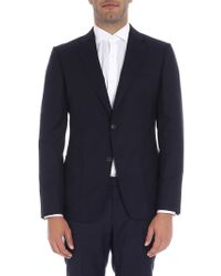 Z Zegna - Blue Two Buttons Jacket - Lyst