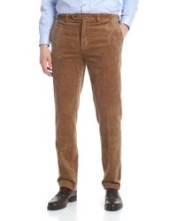 Brooks Brothers - Light Brown Corduroy Trousers - Lyst