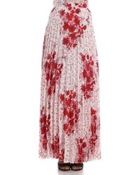 Ermanno Scervino - Floral Printed Pleated Skirt - Lyst