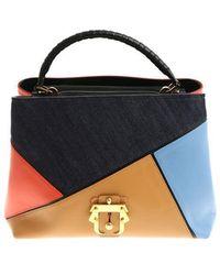 Gray handbag with multicolor print Paula Cademartori IeAiQfzW9i