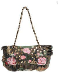 Mia Bag - Camouflage Denim Shoulder Bag With Studs - Lyst