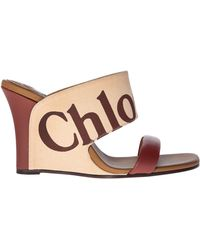 Chloé - Beige Leather Sandals - Lyst