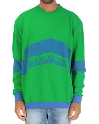 Napapijri - Green And Blue Bacchus Sweatshirt - Lyst
