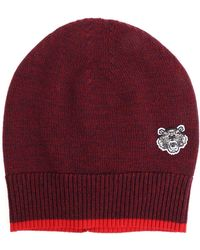 KENZO - Red And Blue Melange Tiger Cap - Lyst