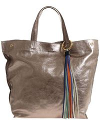 Almala - Bronze Colored Laminated Leather Antea Bag - Lyst
