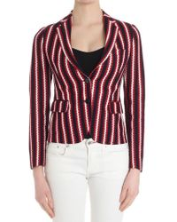 Tagliatore - Red, Blue And White Knitted Jacket - Lyst