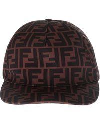 Fendi - Ff Canvas Baseball Cap - Lyst 5180b6652a7