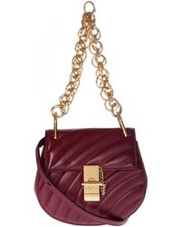 Chloé - Plum Purple Leather Drew Bijou Mini Bag - Lyst